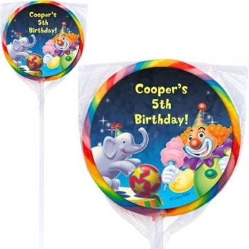 Circus Party Personalized Lollipops (pack of 12)
