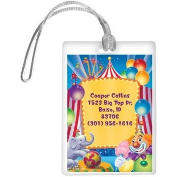 Circus Party Personalized Luggage Tag (each)