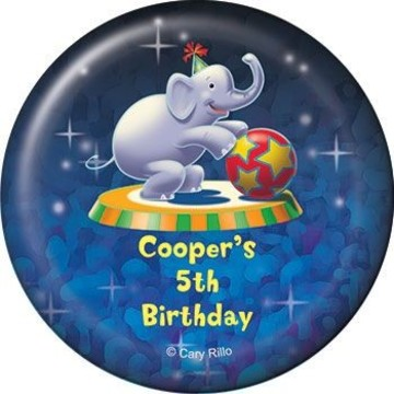 Circus Party Personalized Magnet (each)