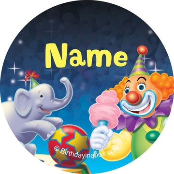 Circus Party Personalized Mini Stickers (Sheet of 24)