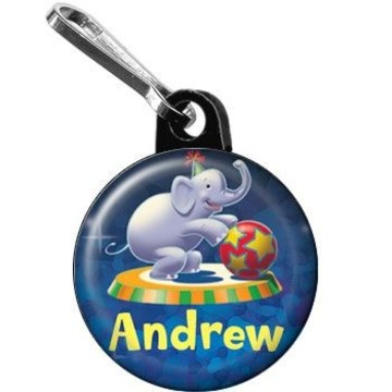 Circus Party Personalized Mini Zipper Pull (each)