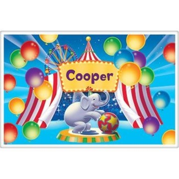 Circus Party Personalized Placemat (each)