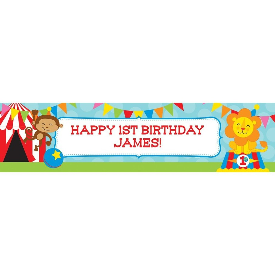 View larger image of Circus Personalized Banner (Each)