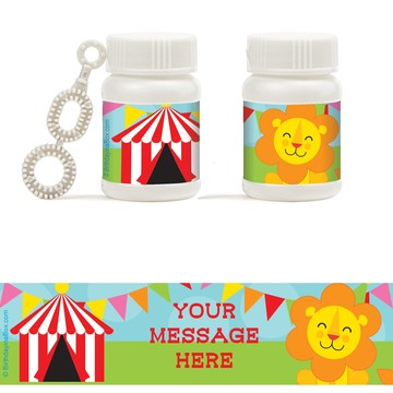 Circus Personalized Bubbles (18 Pack)