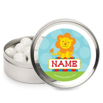 Circus Personalized Candy Tins (12 Pack)