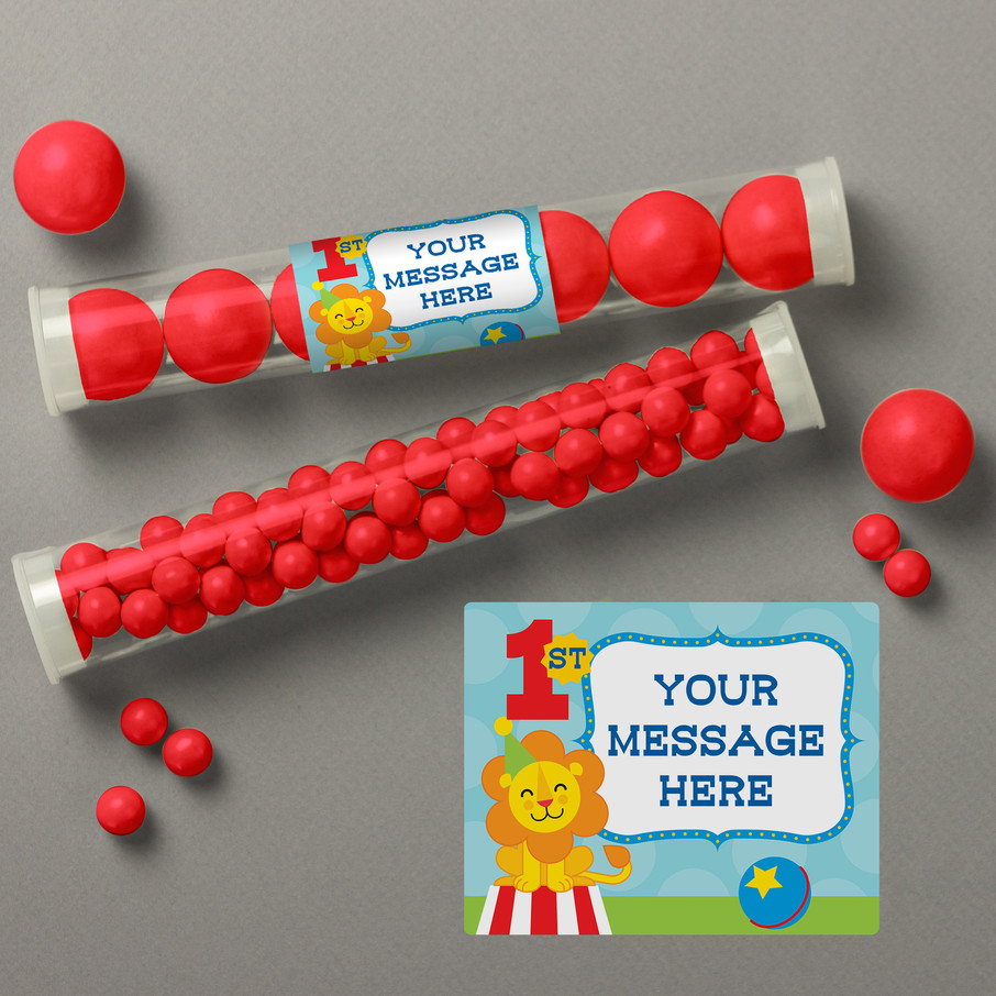 View larger image of Circus Personalized Candy Tubes (12 Count)
