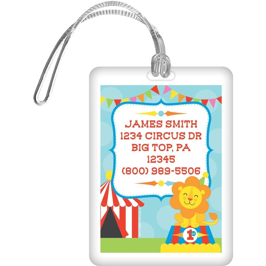 View larger image of Circus Personalized Luggage Tag (Each)