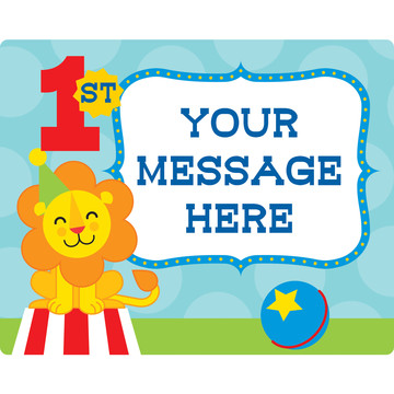 Circus Personalized Rectangular Stickers (Sheet of 15)