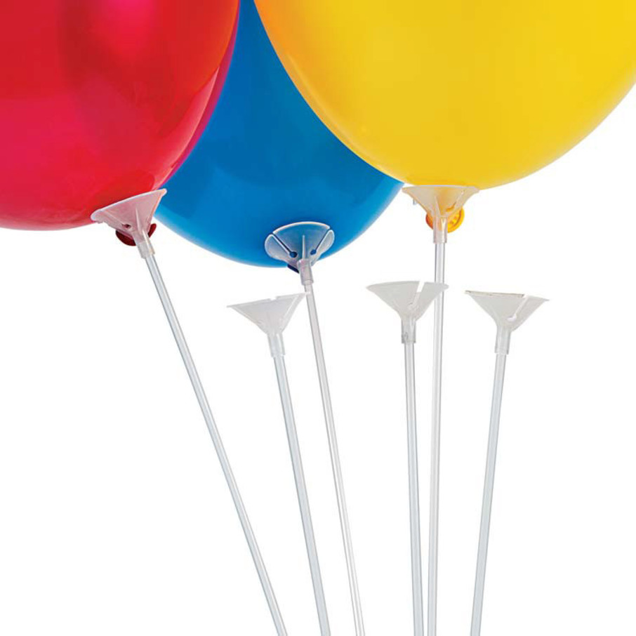 View larger image of Clear Balloon Sticks with Cups (144 Count)