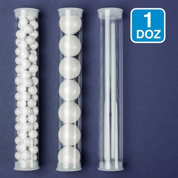 Clear Candy Tubes (12 Pack)