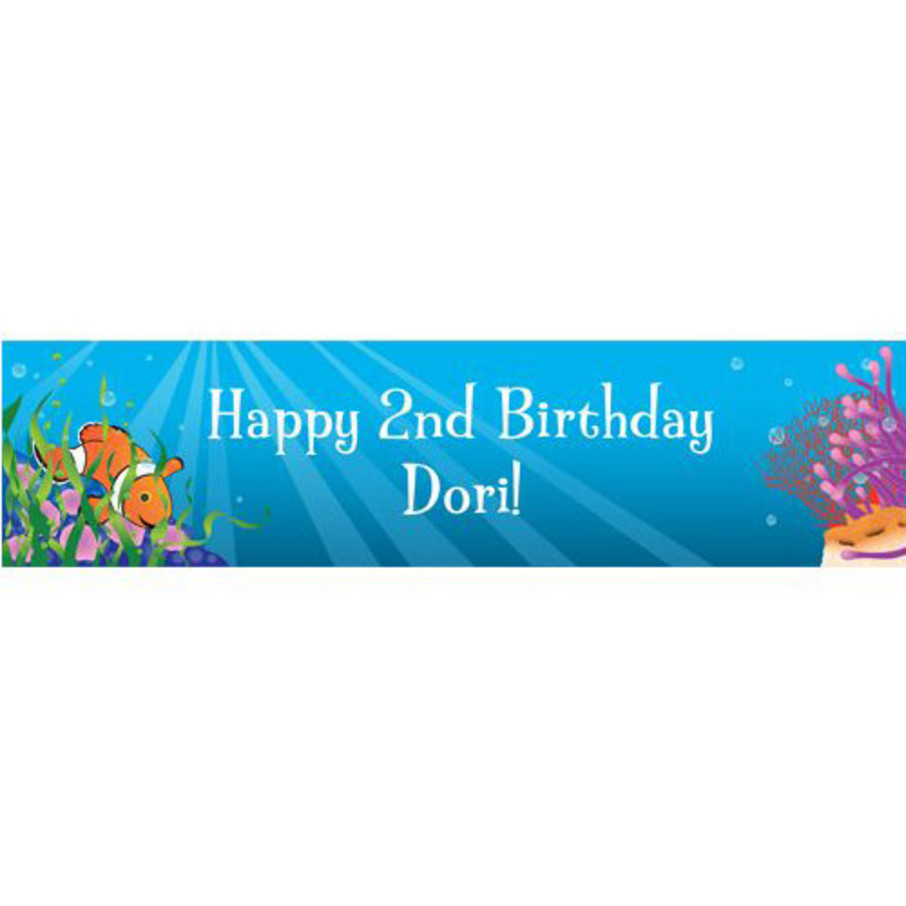 View larger image of Clownfish Personalized Banner (each)