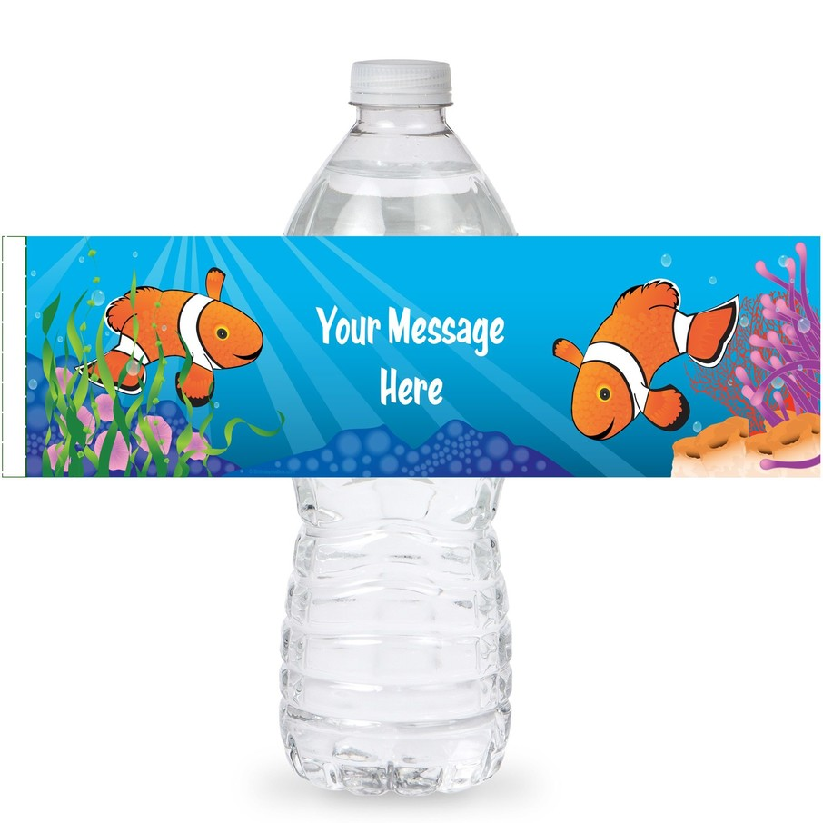 View larger image of Clownfish Personalized Bottle Labels (Sheet of 4)