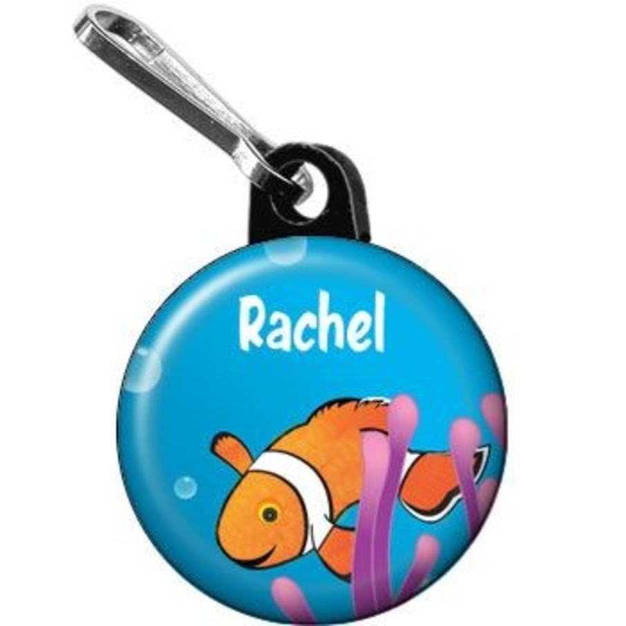 View larger image of Clownfish Personalized Mini Zipper Pull (each)