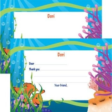 Clownfish Personalized Thank You Note (each)
