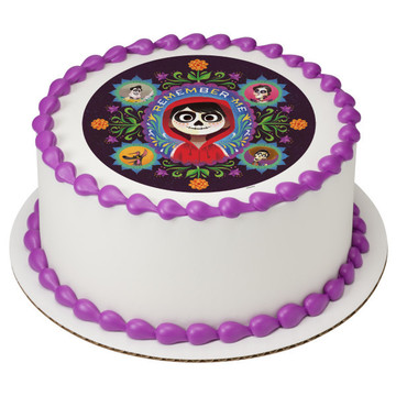 """Coco Remember Me 7.5"""" Round Edible Cake Topper (Each)"""