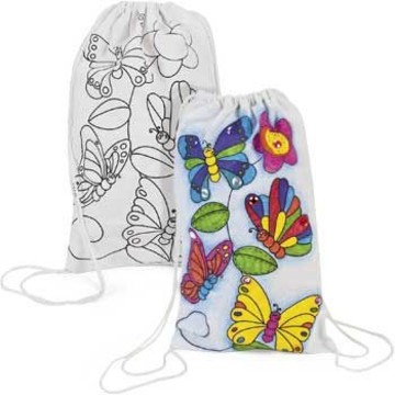 Color Your Own Butterfly Backpack (12 Pack)