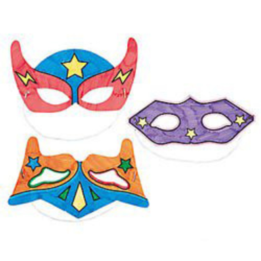 View larger image of Color Your Own Superhero Masks (12)