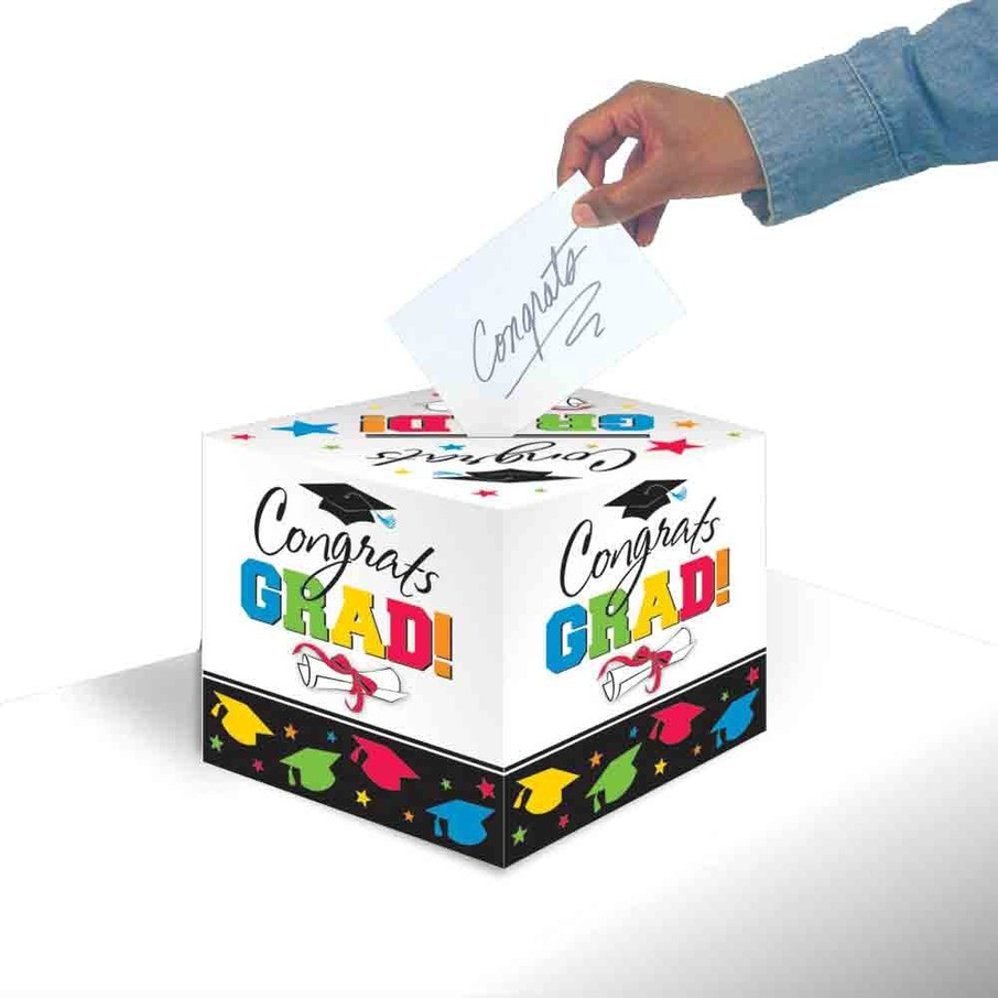 View larger image of Colorful Grad Greeting Card Holder Box (Each)