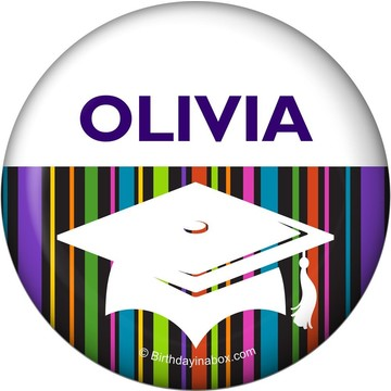 Colorful Graduation Personalized Button (Each)