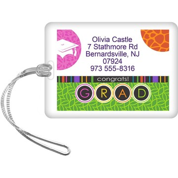 Colorful Graduation Personalized Luggage Tag (Each)