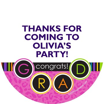 Colorful Graduation Personalized Stickers (Sheet Of 12)