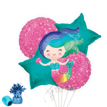 Colorful Mermaid Balloon Bouquet Kit