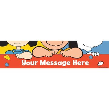 Comic Strip Kids Personalized Banner (Each)