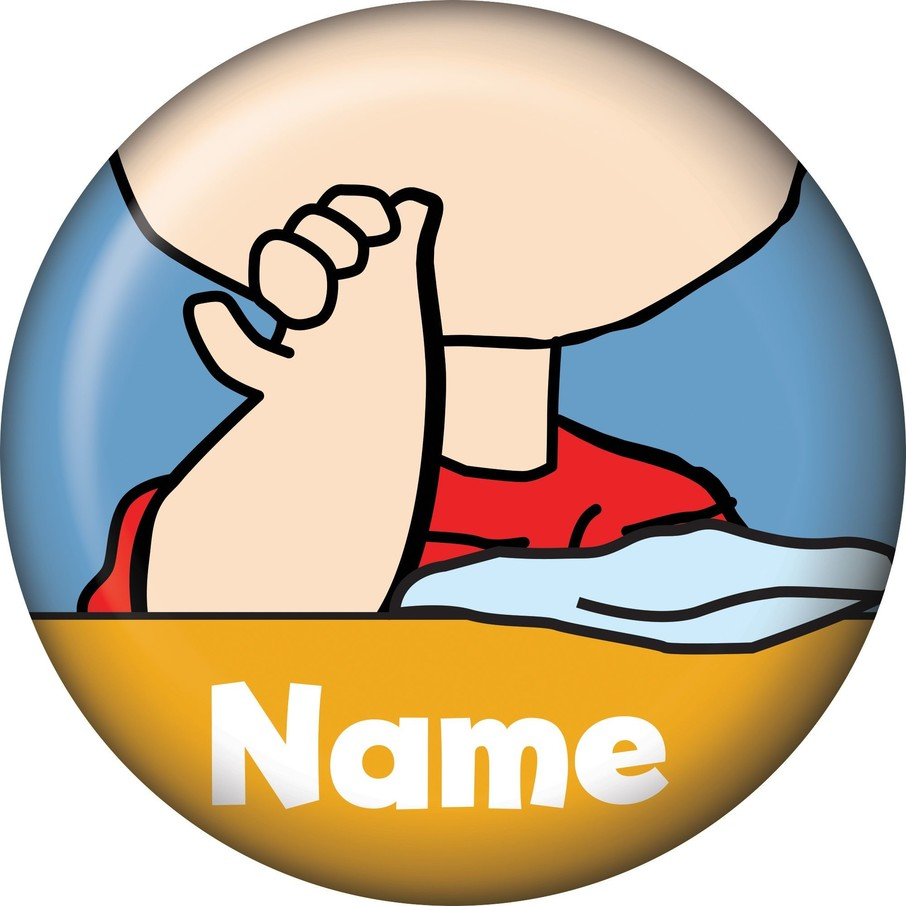 View larger image of Comic Strip Kids Personalized Mini Button (Each)