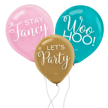 Confetti Fun Latex Balloons (15)