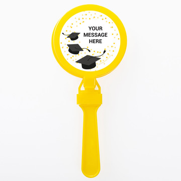 Confetti Grad Yellow Personalized Clappers (Set Of 12)