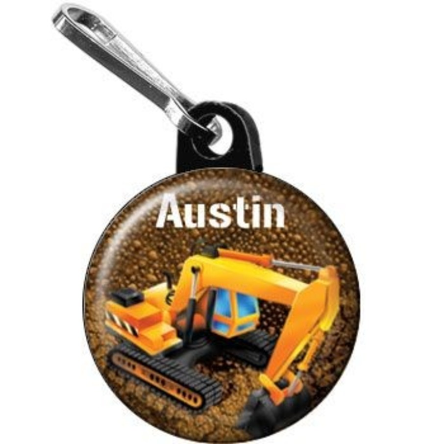 View larger image of Construction - Backhoe Personalized Mini Zipper Pull (each)