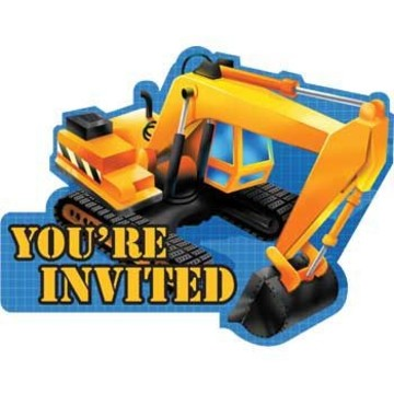 Construction Invitations (8-pack)