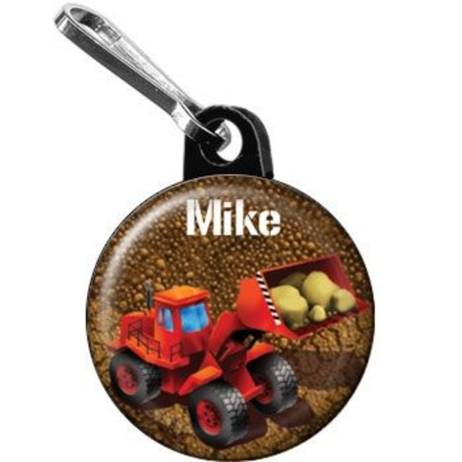 View larger image of Construction - Loader Personalized Mini Zipper Pull (each)