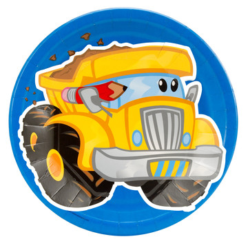 Construction Pals Dump Truck Dinner Plates