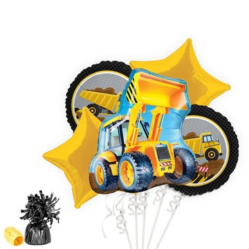 Construction Party Balloon Bouquet Kit