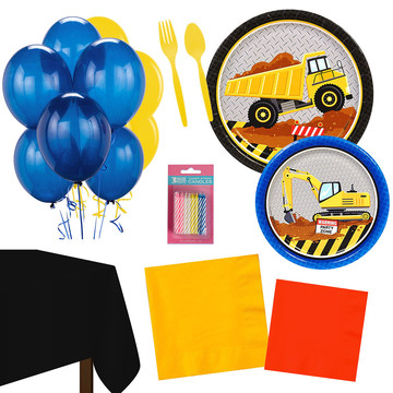 Construction Party Essentials Kit , Serves 16