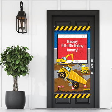 Construction Party Personalized Banner 30 X 60 Inches (Each)