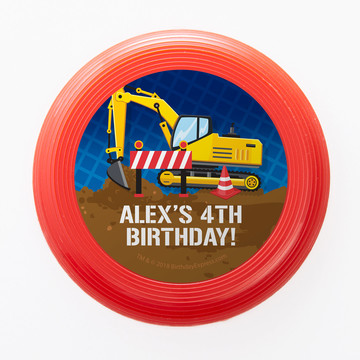 Construction Party Personalized Mini Discs (Set of 12)