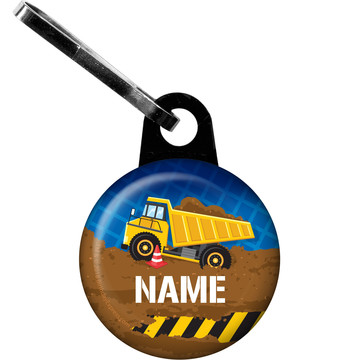 Construction Party Personalized Zipper Pull (Each)