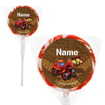 "Construction Personalized 2"" Lollipops (20 Pack)"