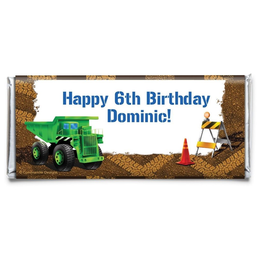 View larger image of Construction Personalized Candy Bar Wrapper (Each)