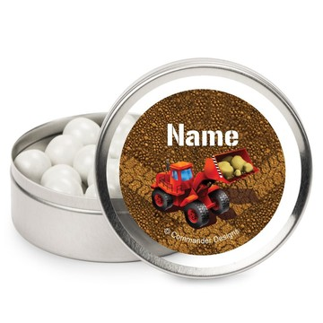 Construction Personalized Candy Tins (12 Pack)