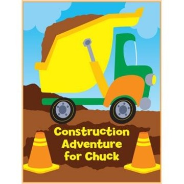 Construction Personalized Coloring Book (each)