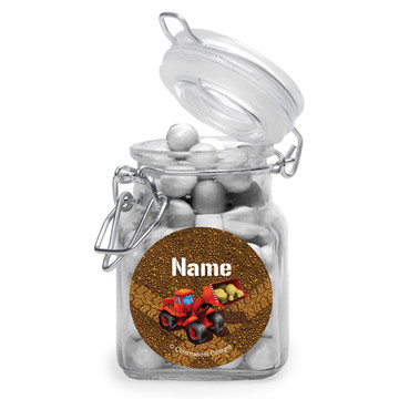 Construction Personalized Glass Apothecary Jars (12 Count)