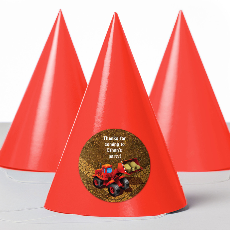 View larger image of Construction Personalized Party Hats (8 Count)