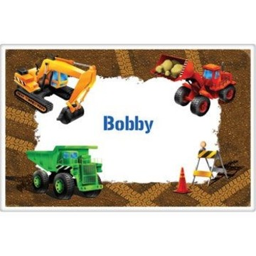 Construction Personalized Placemat (each)