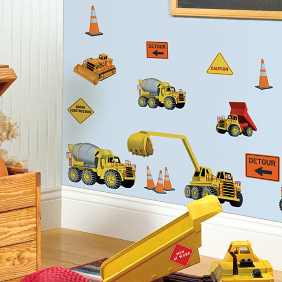 View larger image of Construction Removable Wall Decorations