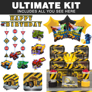 Construction Ultimate Tableware Kit (Serves 8)
