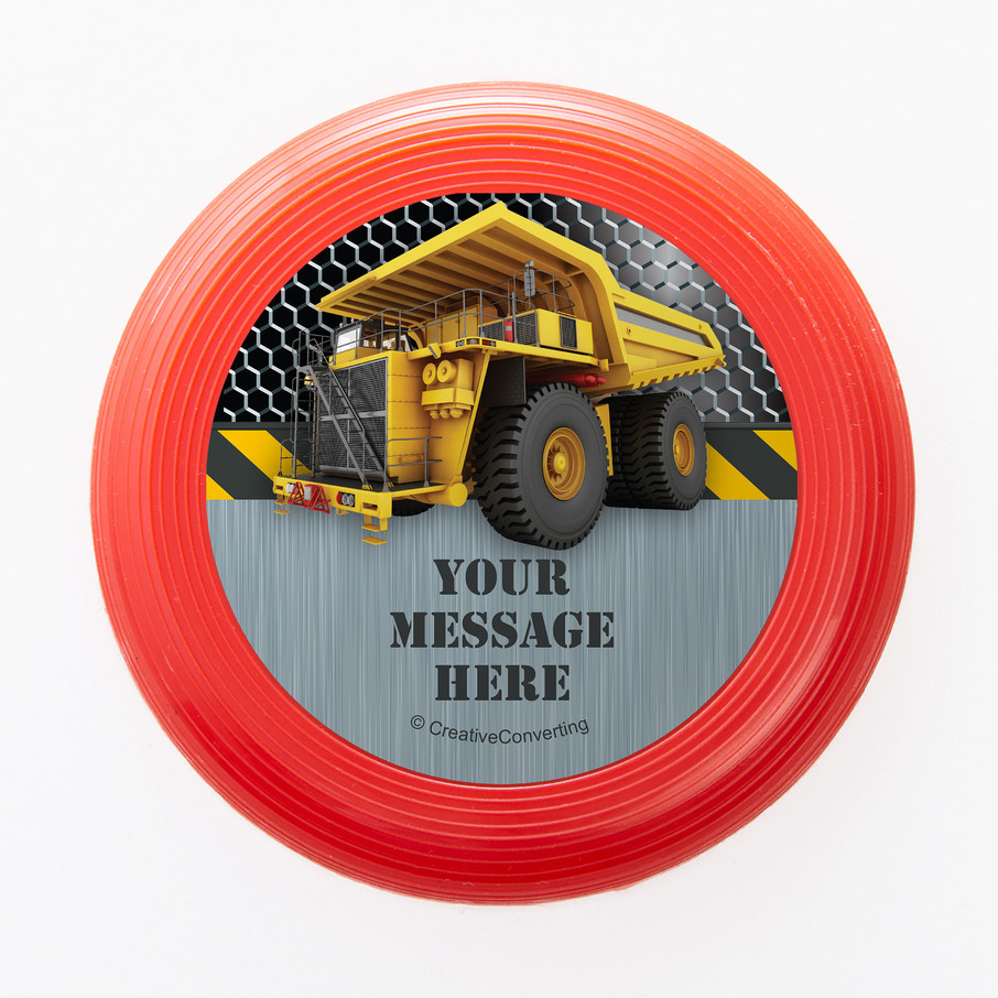 View larger image of Construction Zone Personalized Mini Discs (Set of 12)