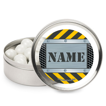 Construction Zone Personalized Mint Tins (12 Pack)